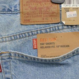 "NWT Men's Levis 550 Red Tab Shorts 42"" waist"